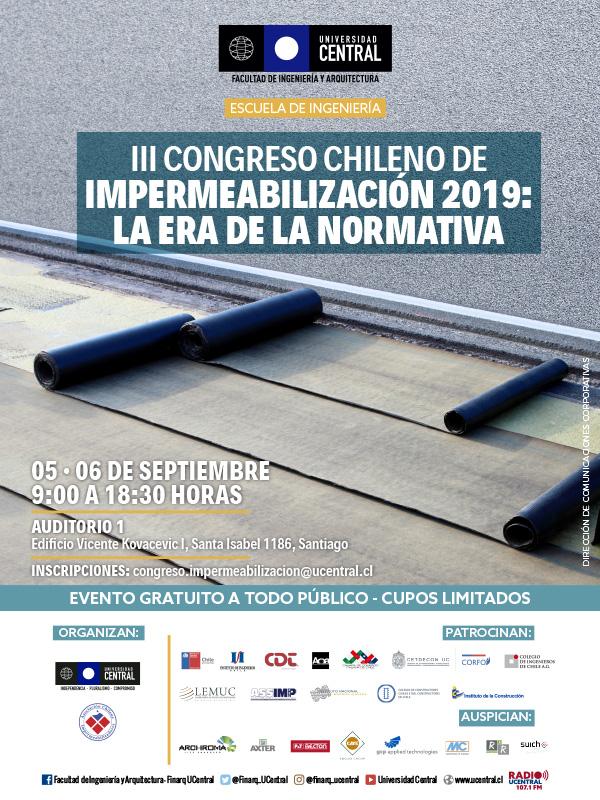 Los últimos detalles del III Congreso Chileno de Impermeabilización